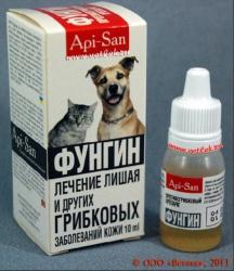 Препараты Фунгин для кошек и собак